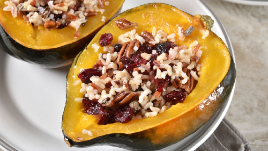 a baked squash