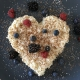 cooked rice heart