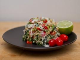 chicpea and quinoa salad